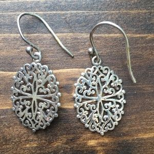 Delicate Silver Earrings Inspired by Wrought Iron